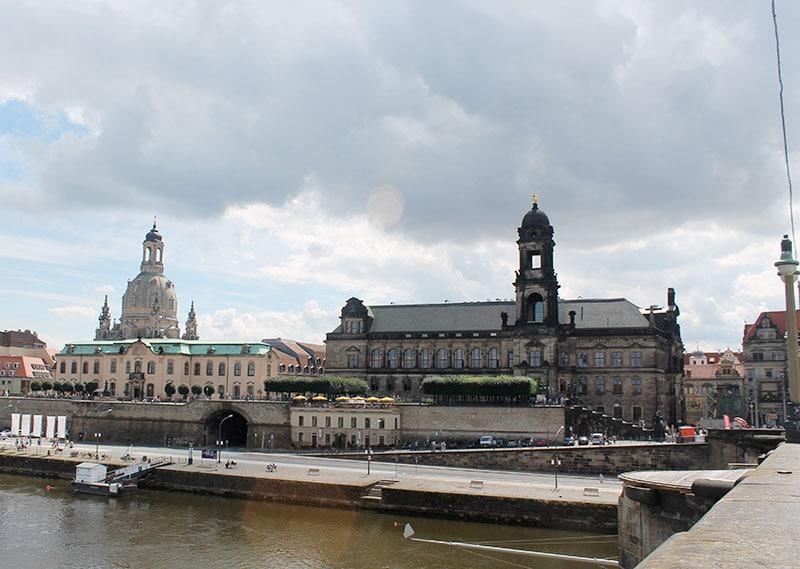 Вид с моста на Дрезден / фото автора