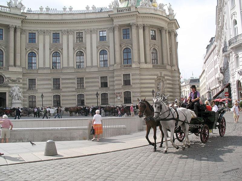 Центр Вены и кусочек Хофбурга на заднем плане / фото автора