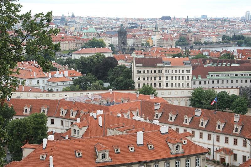 поездка в Европу на автомобиле. Панорама Праги / фото автора