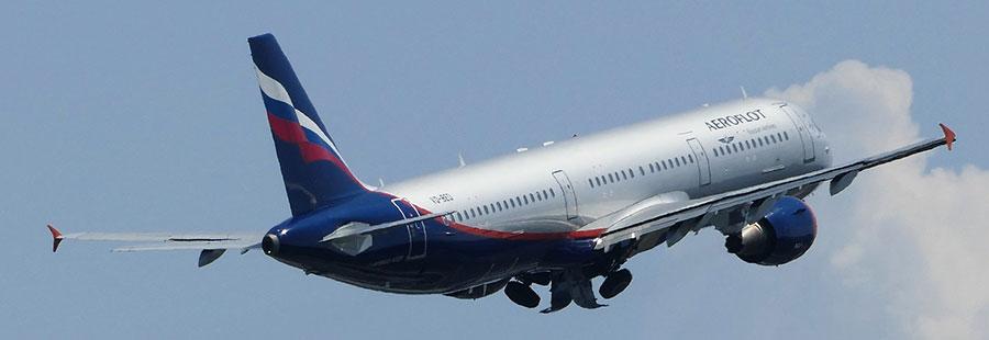 Самолеты Аэрофлота чаще всего летают в Стамбул и Анталию