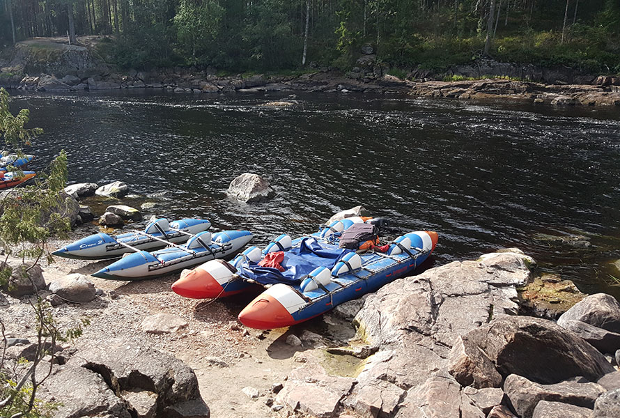 Сплав по реке Шуя в Карелии