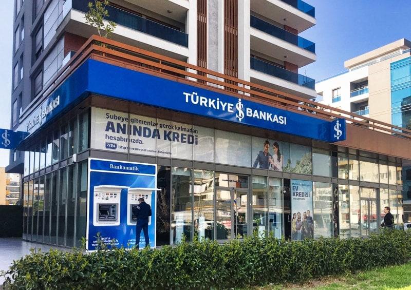 Типичное турецкое отделение банка.