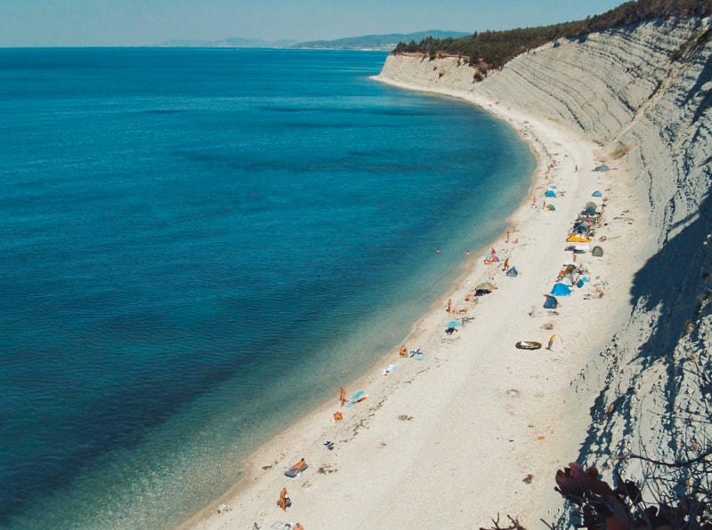 Самый красивый дикий пляж Краснодарского края