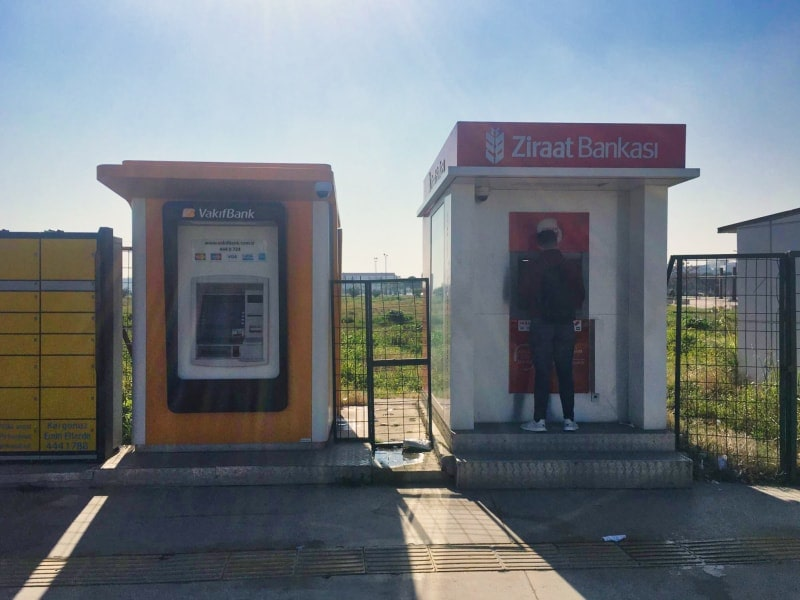 Вот так выглядят банкоматы  Ziraat bankamatik.