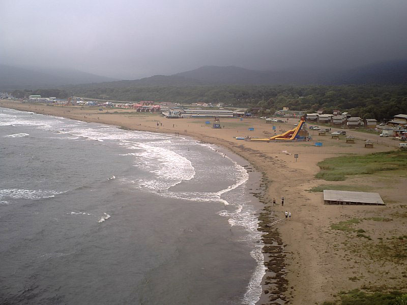 Пляж Шамора летом