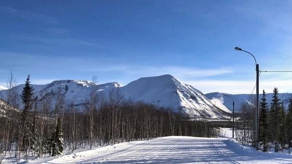 Лыжная трасса около Кировска