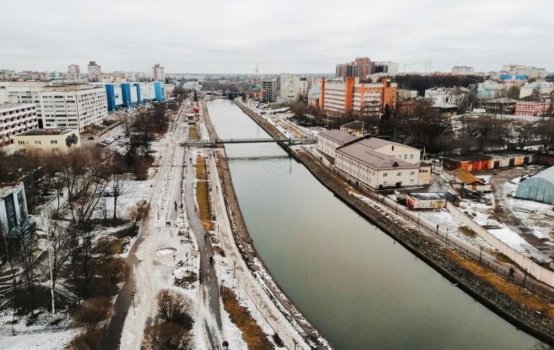 Вид на набережную реки Уводь