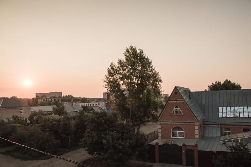 Вид из нашей гостиницы в Оренбурге