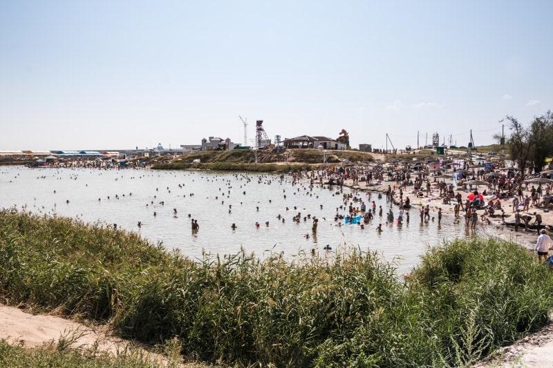 Вид на соленые озера с Соль-Илецке