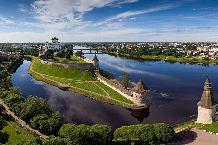 Панорама Псковского кремля