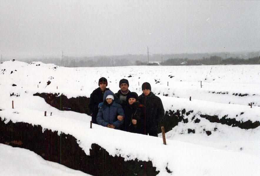 Курган. Снег