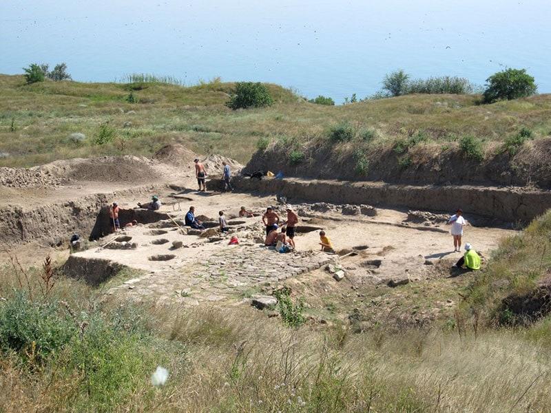 Работа на раскопе