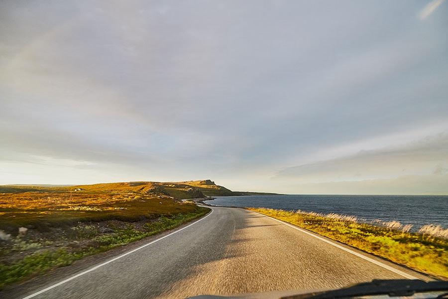 Дорога на территории Норвегии