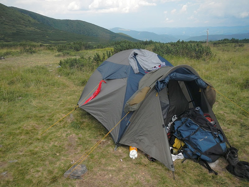 Наша семейная двухместная палатка No Name